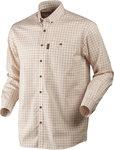 1401099Harkila Stenstorp overhemd, Burnt orange check/ Button-under