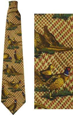 Das (Zijde) Grote fazanten bruin
