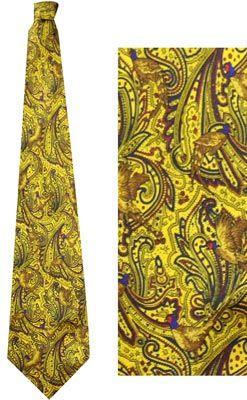 Das (Zijde) Fazanten geel patroon