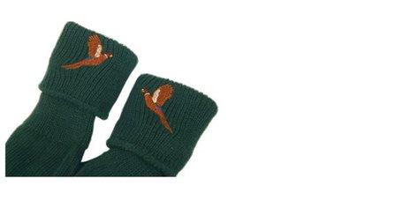 Jacht kousen geborduurd (Tweed)
