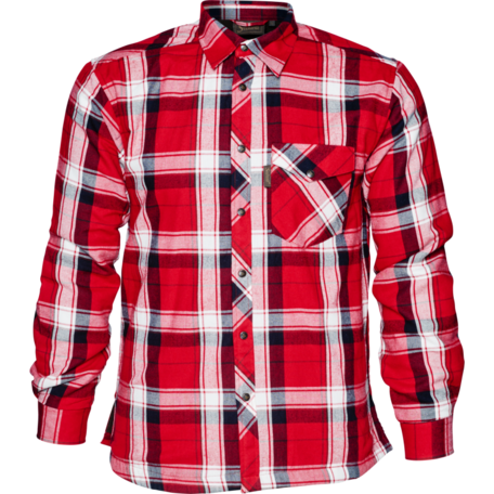 Seeland Moscus overhemd / Chili red check