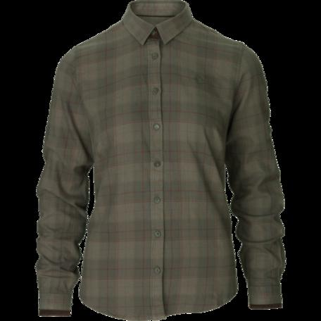 Seeland Range dames overhemd Pine green check