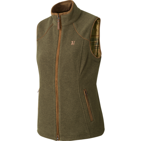 Harkila Sandhem dames fleece vest bodywarmer Dusty lake green melange