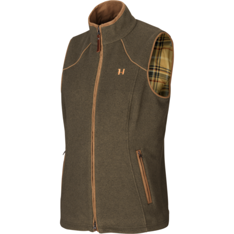 Harkila Sandhem dames fleece vest bodywarmer Willow green melange