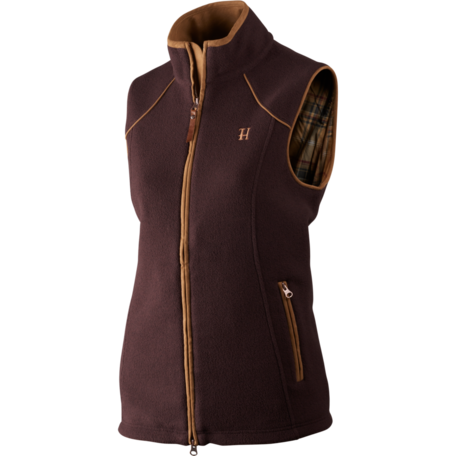 Harkila Sandhem dames fleece vest bodywarmer Dark port melange