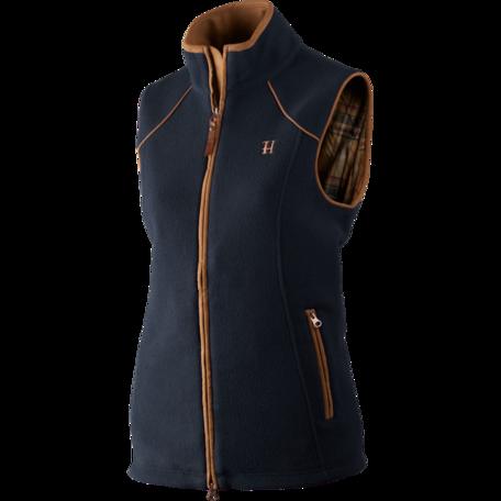 Harkila Sandhem dames fleece vest bodywarmer Dark navy melange