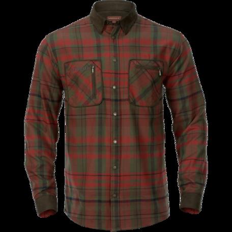 Harkila Pajala overhemd Red autumn check