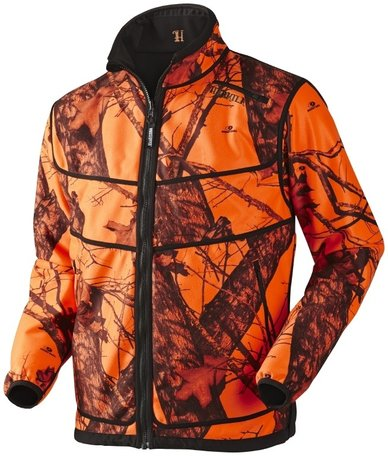 Harkila Grizzly fleece jas / fleece jacket Mossy Oak Orange Blaze / black
