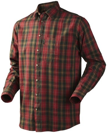 Seeland overhemd Pilton shirt Spicy red check