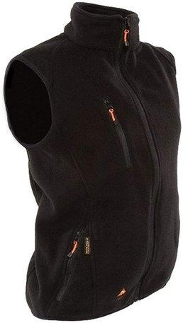 Alpenheat Verwarmd Fleece Vest, zwart