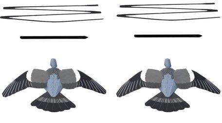 Enforcer vliegende duiven met zwieper 2 stuks! Enforcer Flying Pigeon Decoys Mk 2