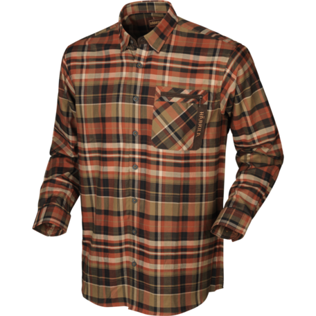 Harkila Newton L/S overhemd, Dark burnt orange check