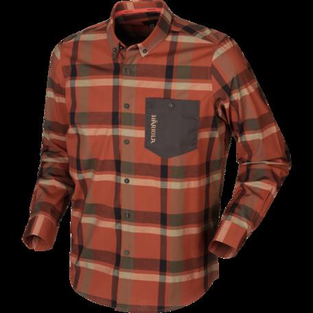 Härkila Amlet overhemd, Burnt orange check