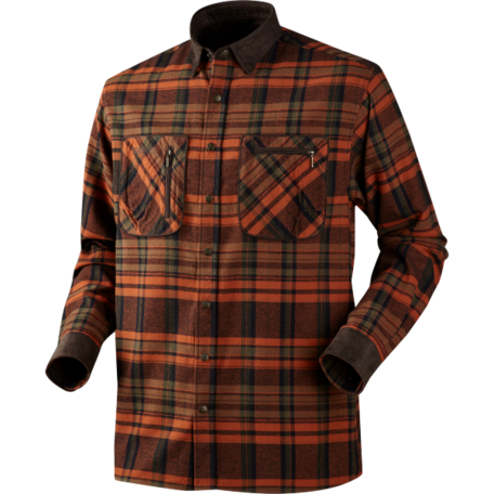 Pajala shirt Burnt orange check