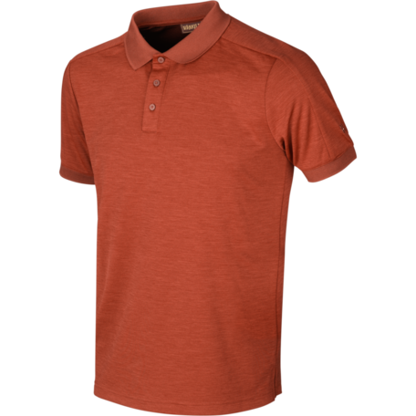 Tech polo Dark burnt orange