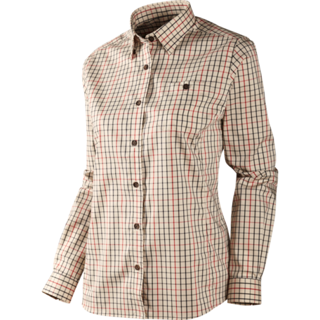 Lancaster Lady L/S shirt Red Check
