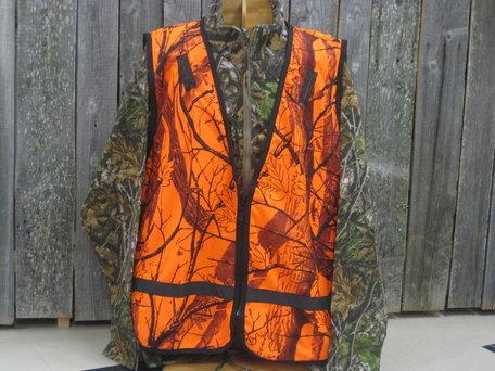 Savotta Camo Elk Waistcoat oranje camo veiligheidsvest