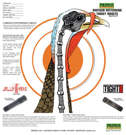 Turkey Target, 12 Targets, Poly Bag