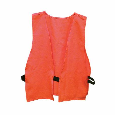 Veiligheidsvest, jager oranje, volwassen grootte, logo op rug, polyzak