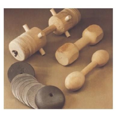 Houten dumbell / dummy