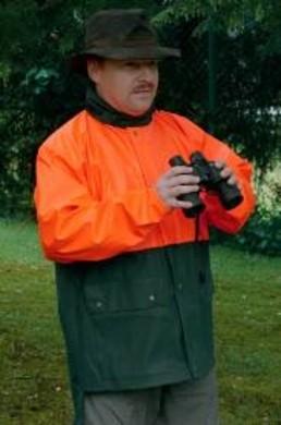 Regenjas veiligheidskleuren