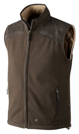 Seeland William Fleece Waistcoat | Brown