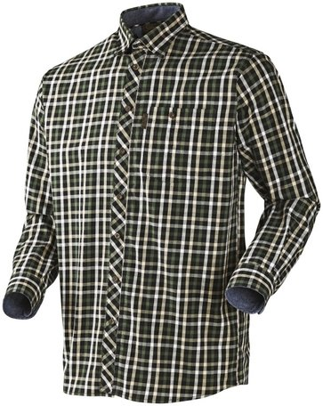 Seeland Hanley Shirt | Lange mouwen | Green/ Dark Blue check