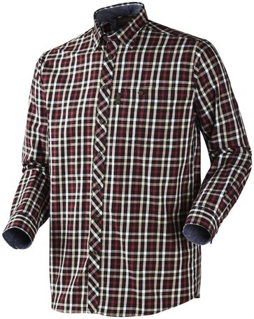 Seeland Hanley Shirt | Lange mouwen | Red/ Dark Blue check