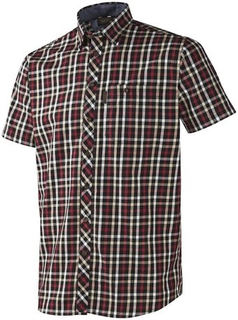 Seeland Hanley Shirt | Korte mouwen | Red/ Dark Blue check