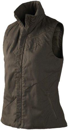 Härkila Jerva damesvest bodywarmer / waistcoat Shadow brown