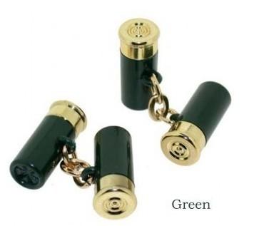 Manchetknopen, mini hagelpatronen groen