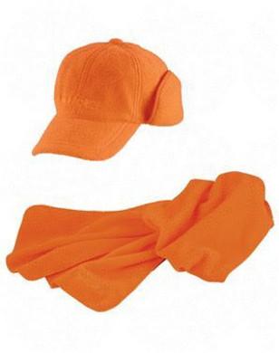 Set das en pet oranje signaalstof