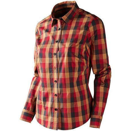 Härkila Lara Lady overhemd / Red/black check