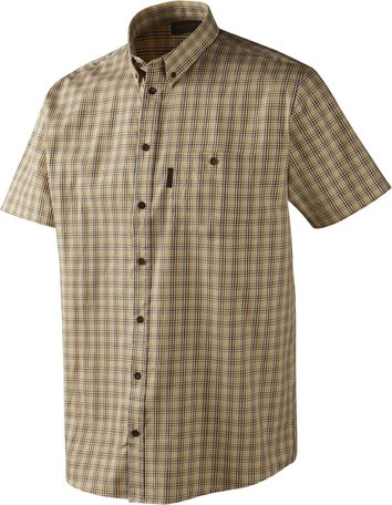 Seeland River S/S overhemd / Antique gold check