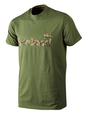 Seeland T-shirt Camo Seeland / Bottle green melange