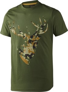 Seeland T-shirt Camo Stag / Bottle green melange