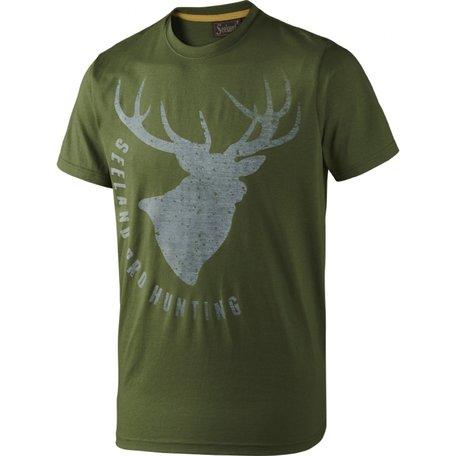 Seeland T-shirt Fading Stag / Bottle green melange