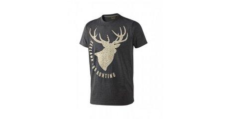 Seeland T-shirt Fading Stag / Dark grey melange