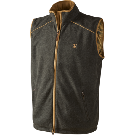 Harkila Sandhem fleece bodywarmer / Earth grey melange