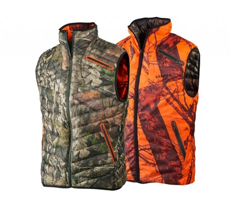 Harkila Moose hunter reversible bodywarmer / MossyOak Breek-up - MossyOak OrangeBlaze