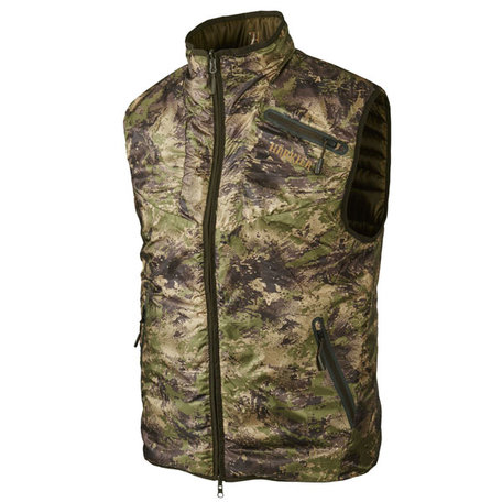 Harkila Lynx Insulated dubbelzijdige bodywarmer, Willow green/AXIS MSP® Forest
