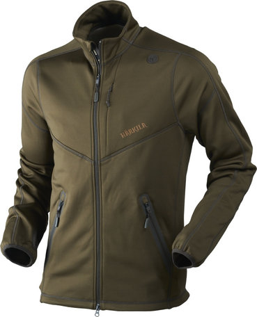 Harkila Norfell full zip fleece vest, Willow green