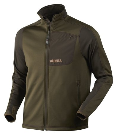 Harkila Svarin fleece vest, Willow green/Shadow brown
