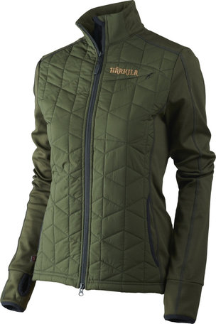 Harkila Hjartvar Insulated Hybrid dames jas, Willow green