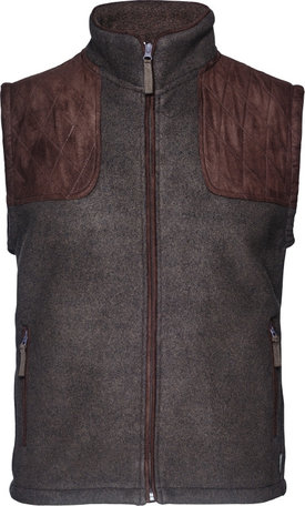 Seeland William II fleece bodywarmer, Moose brown