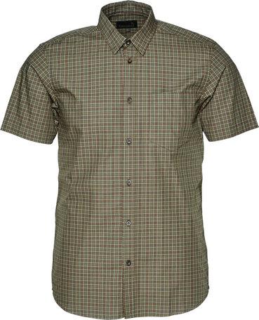 Seeland Colin overhemd korte mouw, Forest night geruit