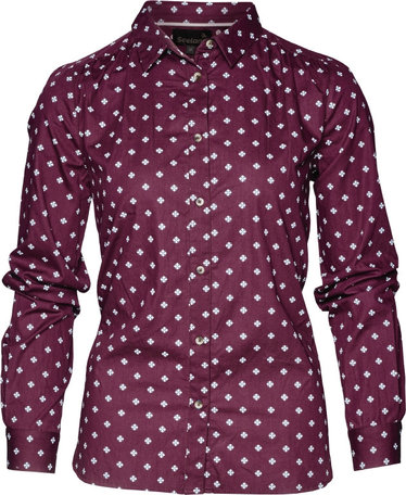 Seeland Erin dames overhemd, Chocolate Tile