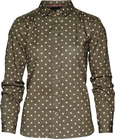 Seeland Erin dames overhemd, Green tile