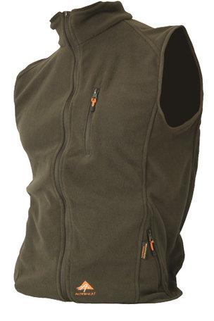 Alpenheat Verwarmd Fleece Vest, olijf groen