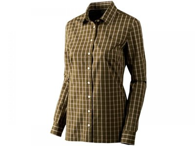 Dames Overhemd.140207077 Seeland Dames Overhemd Pilton Lady Shirt Raisin Check